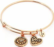 Ladies Chrysalis Rose Gold Plated Love Thinking Of You Love Expandable Bangle CRBT0718RG