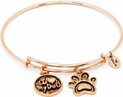Ladies Chrysalis Rose Gold Plated Family and Friendship, Love Friend & Family I Love My Dog Expandable CRBT0713RG