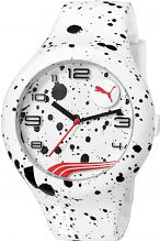 Mens Puma PU10321 FORM XL - white splash Watch PU103211020