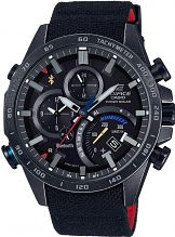 Mens Casio Edifice Eqb-500 Scuderia Toro Rosso Black Limited Edition Alarm Chronograph Solar Powered Watch EQB-501TRC-1AER