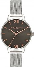 Ladies Olivia Burton Midi Dial Dark Grey & Silver Mesh Watch OB16MD80