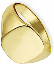 Classic Oxford Cushion Signet Ring Size R