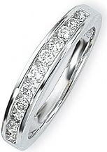 White Gold 0.50ct tw Brilliant-cut Half Eternity Diamond Ring Size N