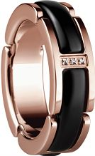 Ladies Bering PVD rose plating Link Ring Size L 502-36-65