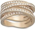 Ladies Swarovski PVD rose plating Size O Spiral Ring 55 5063924