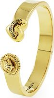 Ladies Juicy Couture PVD Gold plated Heart And Coin Hinged Bangle WJW460-710