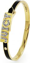 Ladies Juicy Couture PVD Gold plated Juicy Id Enamel Bangle WJW462-001