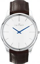 Mens Kennett Kensington Silver White Dark Brown Watch KSILWHDKBRN