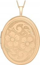 Ladies Essentials 9ct Rose Gold 20mm Flower Locket AJ-14010042