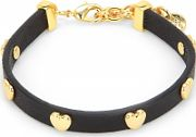 Ladies Juicy Couture PVD Gold plated Layered In Couture Heart Leather Bracelet WJW734-001