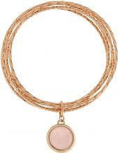 Ladies Bronzallure 18ct Gold Plated Bronze Rose Quartz Bracelet WSBZ00032.R