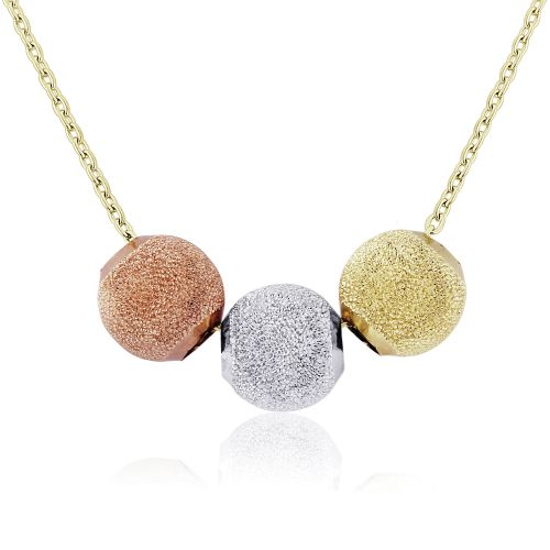 Jewellery Multi colour gold Fancy Necklet 17 inches/43cm